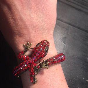 Sparkling red 🦎 gecko bracelet